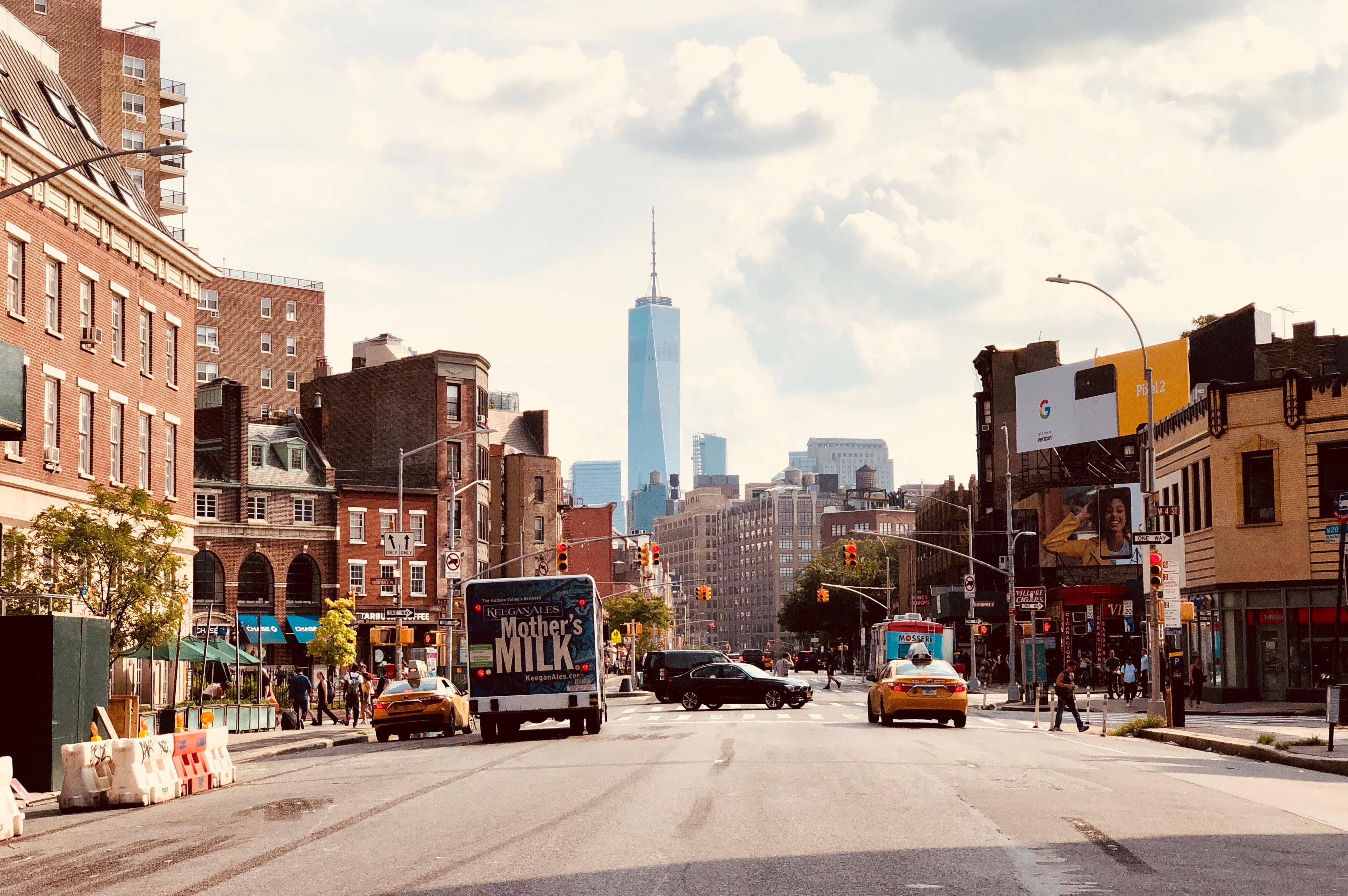 Street scene in West Village, New York.